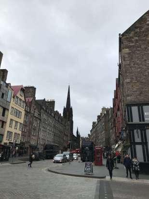 Views of the royal Mile, Edinburgh.