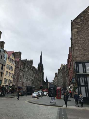 Views of the royal Mile, Edinburgh.