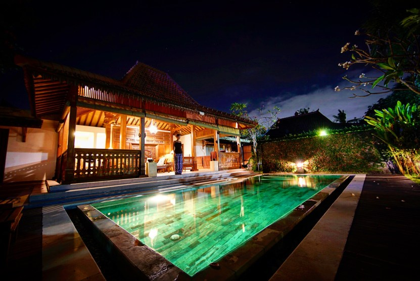 Our private pool at Villa Berawa in Canggu.