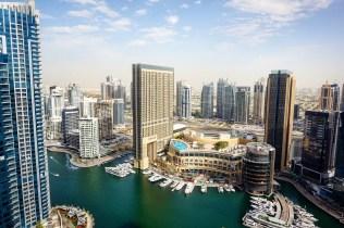 Views of Dubai Marina from Sama Lounge, Ramada Plaza, JBR
