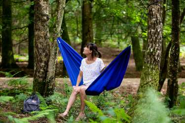 Relaxing in my travel hammock, Nicola Dunkinson