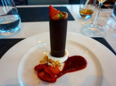 Dessert at the 360 Restaurant, CN Tower Toronto.