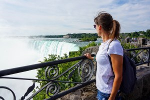 Looking out over Niagara Falls, Toronto.