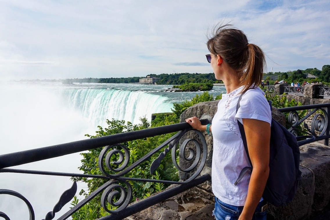 Looking out over Niagara Falls, Toronto.