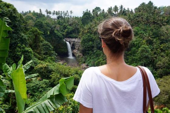 Overlooking Tegnungan Waterfall, Bali