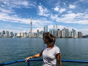Toronto skyline views from the water.