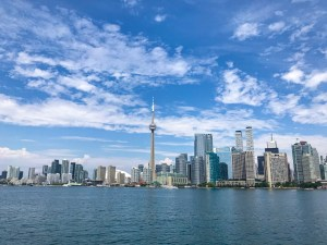 A view of Toronto from the water.