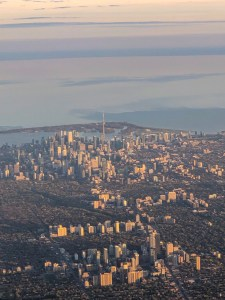 Views of Toronto from the air.