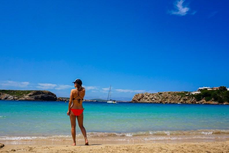 The beach at Arenal d'en Castell, Menorca