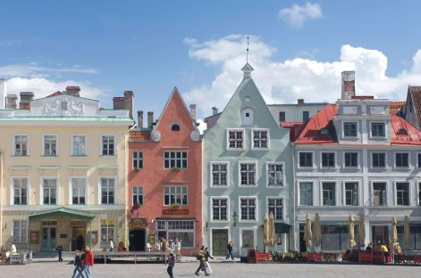 Beautiful buildings in Tallinn, Estonia. Copyright MSC Rights