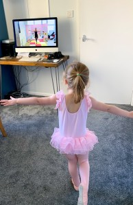 Baby Ballet at home during lockdown