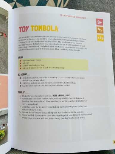Five Minute Mum book, toy tombola activity