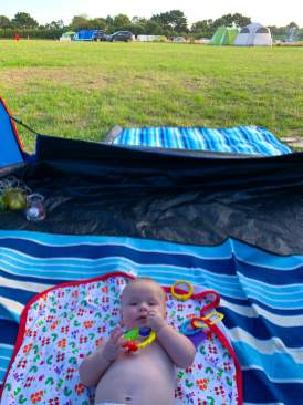 Camping at Lepe Beach