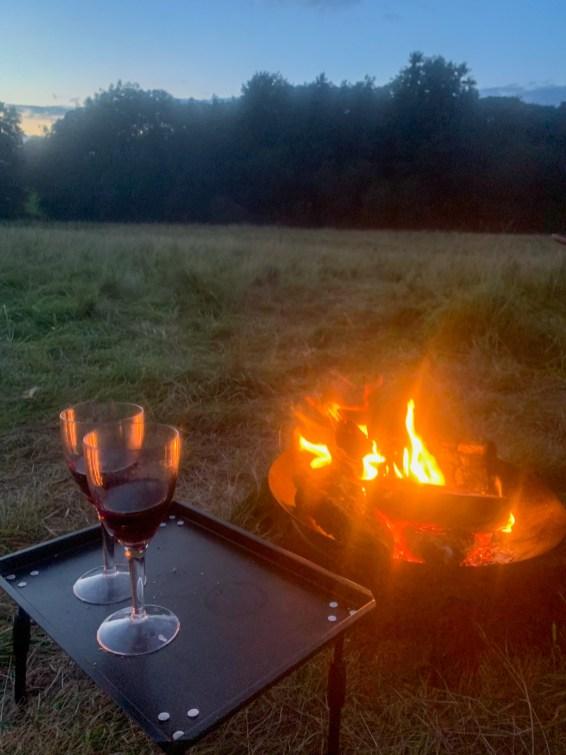 Our campfire, Benville Manor, Dorset