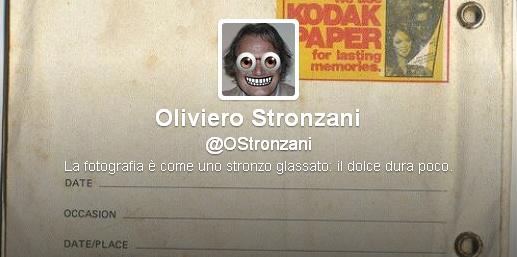 Il profilo Twitter di Oliviero Stronzani