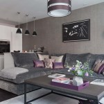 Lilac And Grey Living Room Modern House