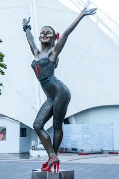Melbourne: statua di ballerina sul lungofiume Yarra