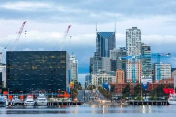 Melbourne: skyline durante l'ora blu