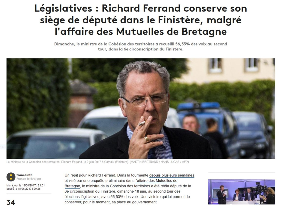 Richard Ferrand, cigarette au bec