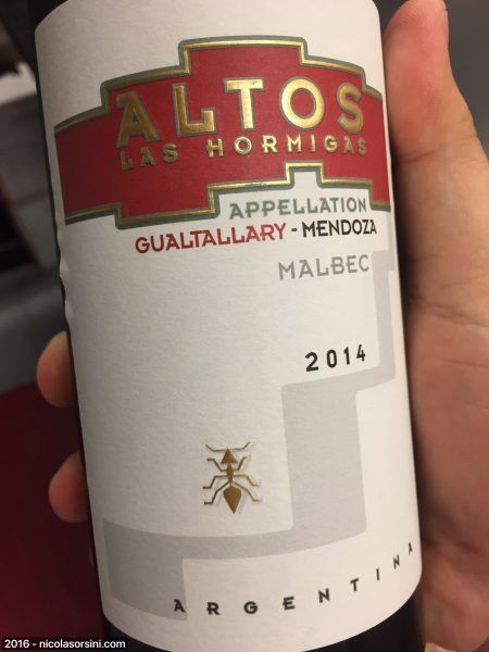 Altos Las Hormigas Appellation Gualtallary 2014