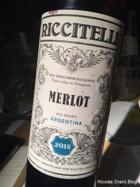 Riccitelli Merlot 2015