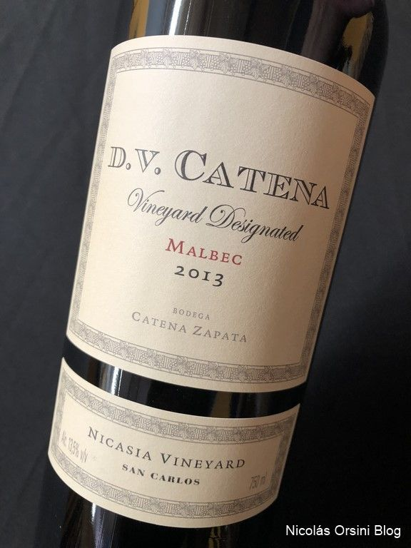 D.V Vineyard Designated Malbec Nicasia 2013