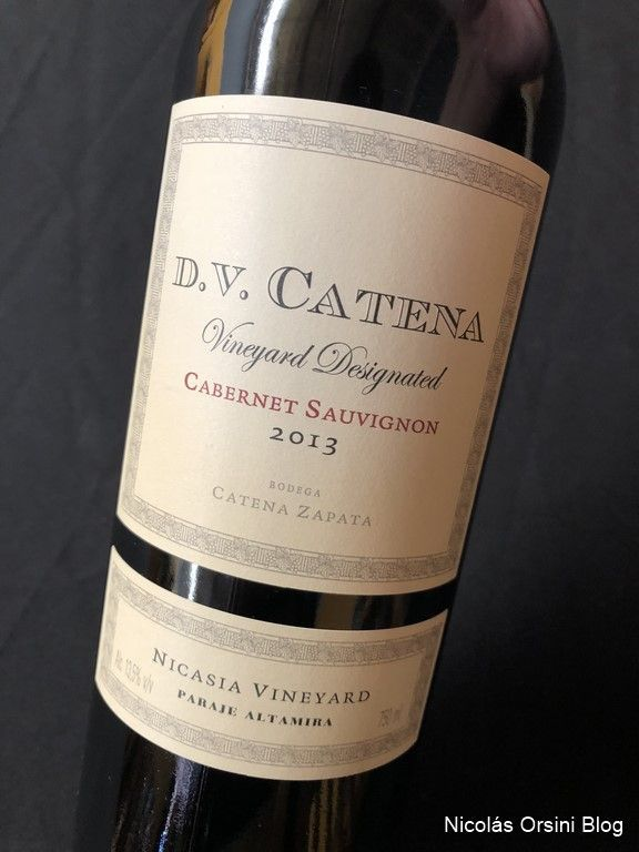 D.V Vineyard Designated Cabernet Sauvignon Nicasia 2013