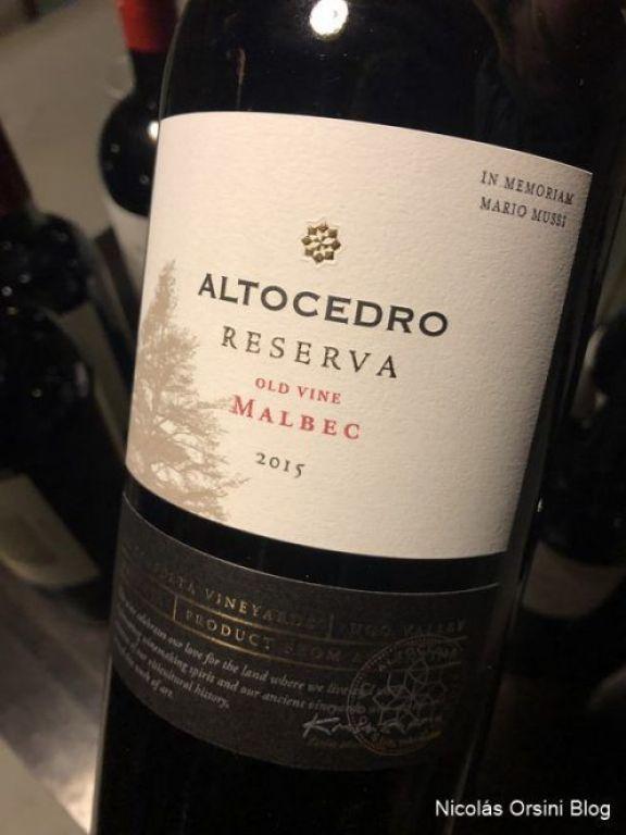 Altocedro Reserva Malbec 2015