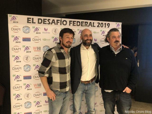 Mauricio Vegetti, Germán Di Césare y Juan Roby