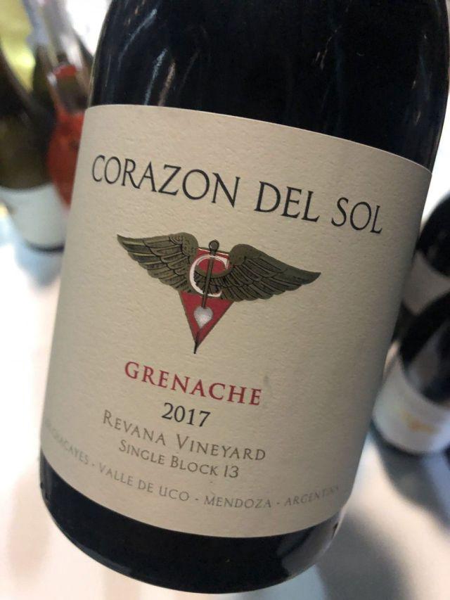 Corazón del Sol Grenache 2017
