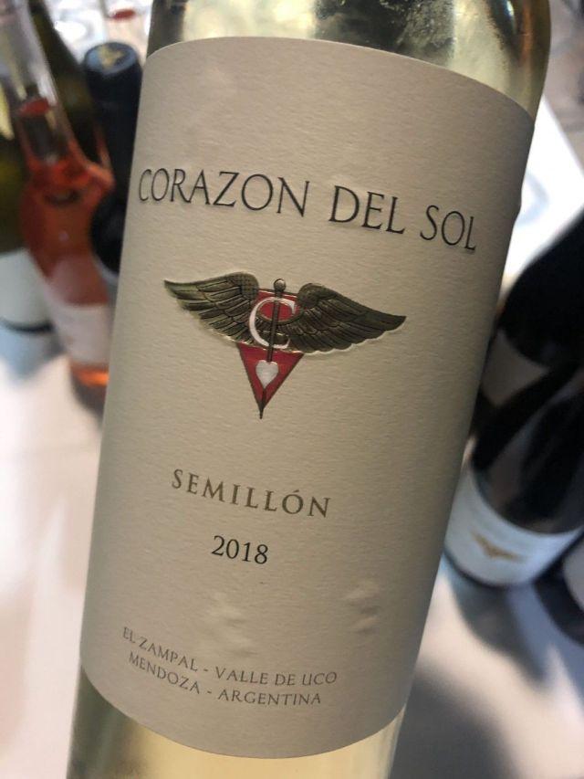 Corazón del Sol Semillón 2018