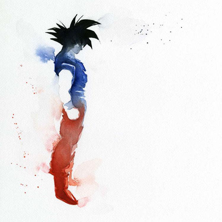 Super-héros à l'aquarelle par Clémentine Campardou