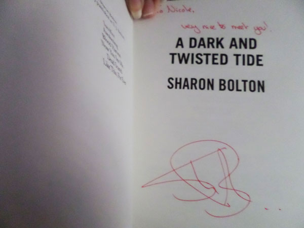 Author visit - Sharon Bolton - Signed copy of A Dark and Twisted Tide