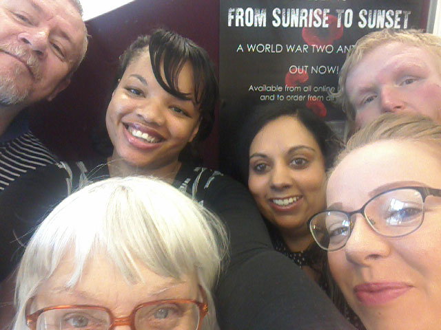 Oldbury Writing Group - From Sunrise to Sunset Book Launch - Group Selfie 1