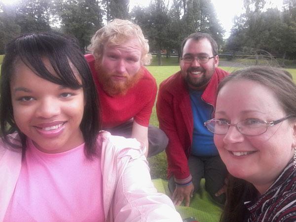 Brunswick Park - Picnic Group Selfie