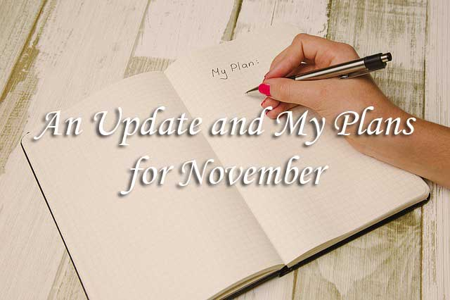 An Update and My Plans for November