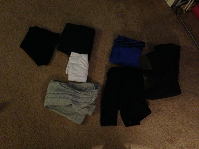leggings, jeans, yoga pants, fleecy, cami and uggs.