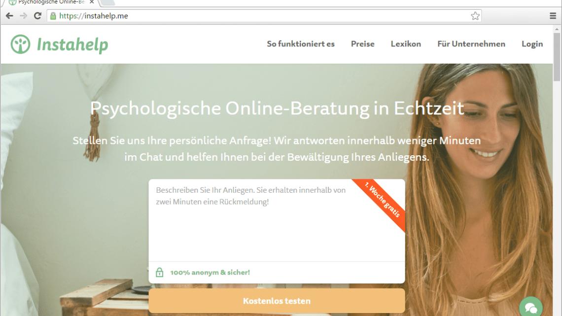 Instahelp Erfahrung – Psychologische Online-Beratung