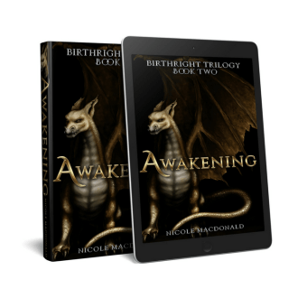 Awakening, Book two of the BirthRight Trilogy, Nicole MacDonald, kindle version, epub version, Nicole MacDonald