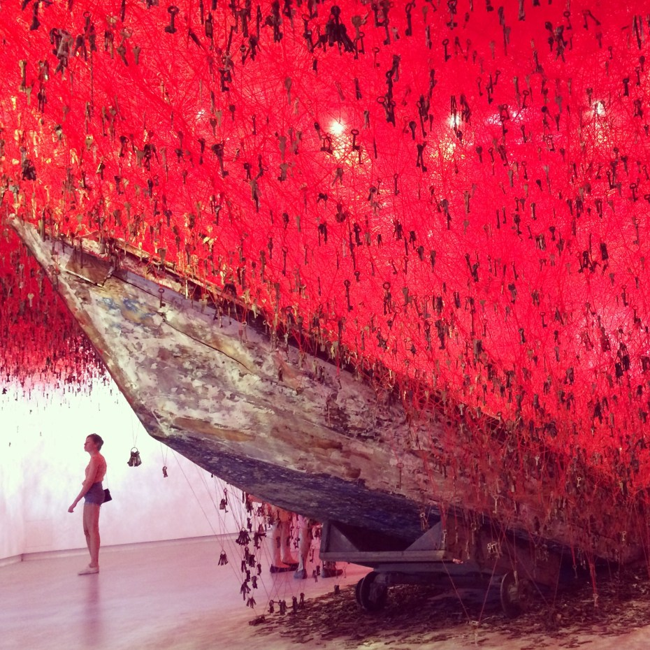 "Chiharu Shiota's ""The Key is in the Hand"" at the Japanese Pavilion, Venice Art Biennale 2015."