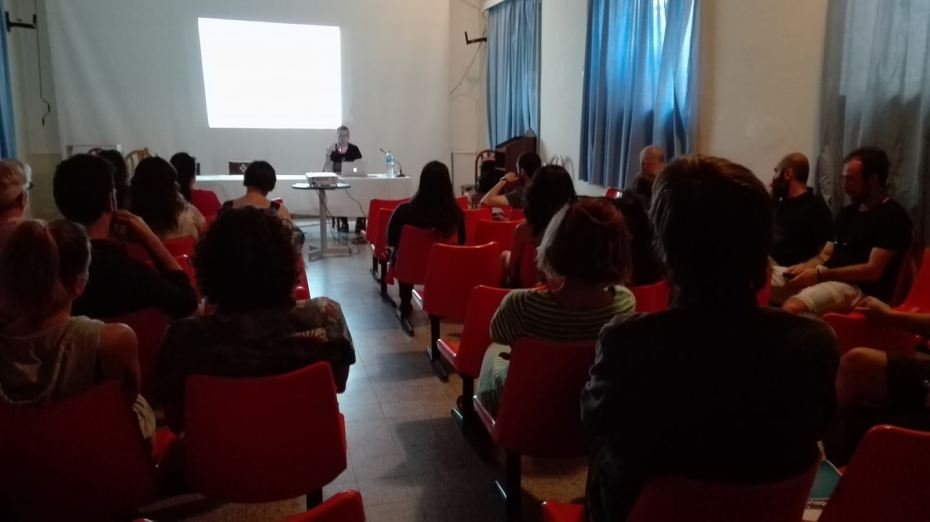 My open lecture. Pic courtesy of Eleni Kalogeropoulou.