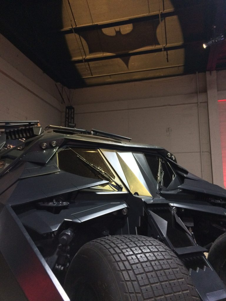 Detail of Batman's Tumbler at the Warner Bros. Studio Tour Hollywood.