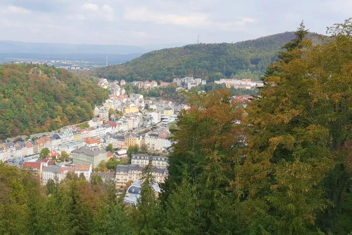 Karlsbad uitkijktoren Karl IV uitzicht
