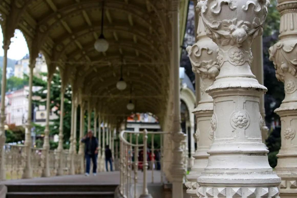 karlsbad park colonnade detail