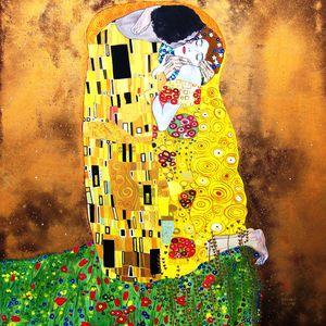 Il bacio, di Gustav Klimt