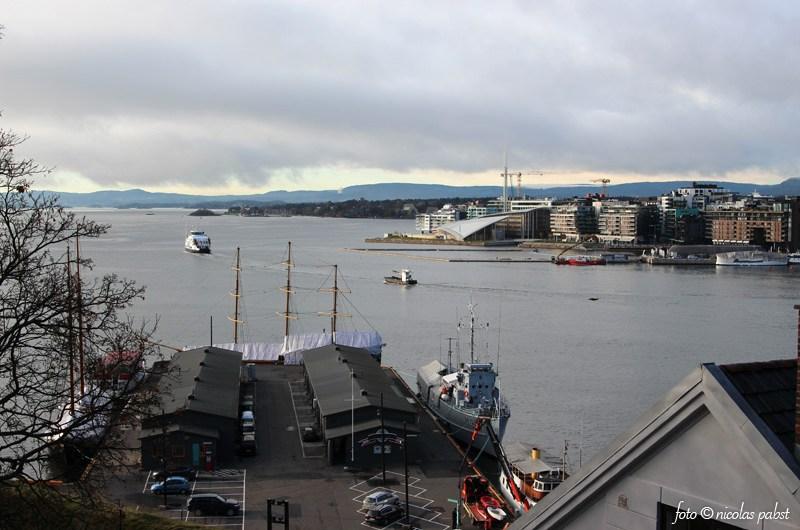 Norwegen und der Hafen von Oslo