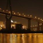 Hamburg bei Nacht - Köhlbrandbrücke