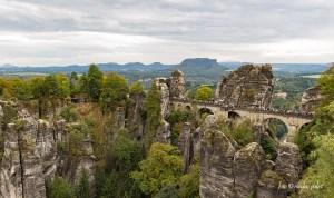 Blick auf die Bastei in der sächsischen Schweiz