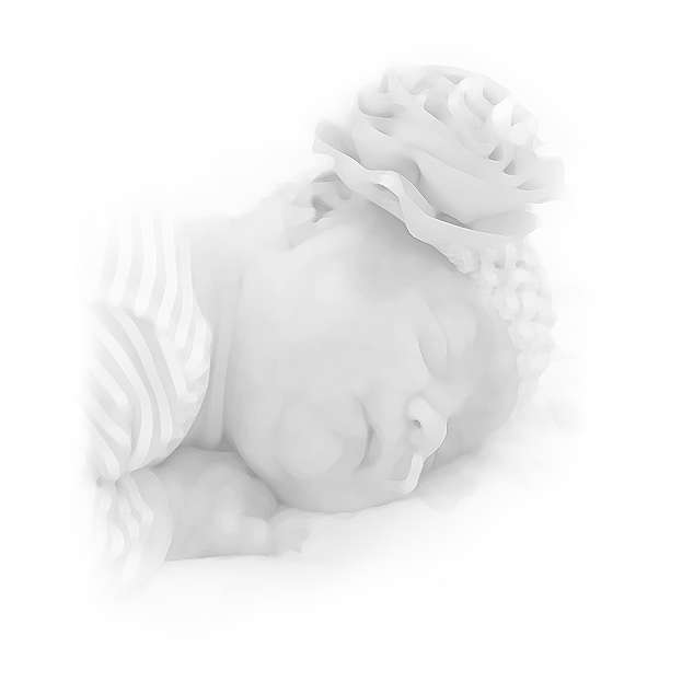 An infant resting in the NICU.