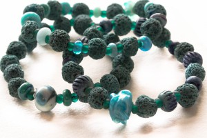 Beads inspired from Icelandic ice.